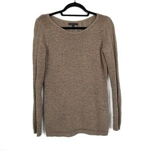RACHEL ZOE Brown Tan Karla Knit Oversized Sweater